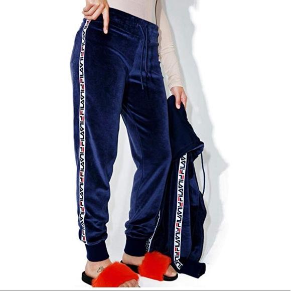 96ddcf11c942b Fila Pants | Super Comfy Navy Blue Velour Sweat | Poshmark